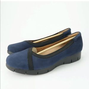 Clarks Daelyn Hill Wedge Comfort Shoes 7.5 WIDE